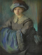 Lady with Muff and Hat